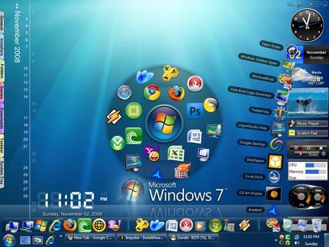 mempercantik tampilan windows 7