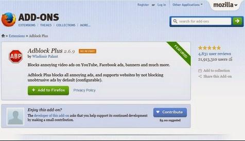 Menghilangkan Iklan Di Mozilla