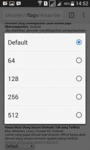 kinerja google chrome di android