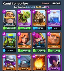 Kartu Common, Rare, dan Epic di Game Clash Royale
