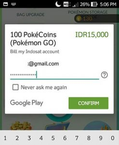 Cara Membeli PokeCoins Pada Pokemon GO Menggunakan Pulsa