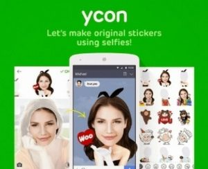 cara membuat stiker sendiri menggunakan ycon